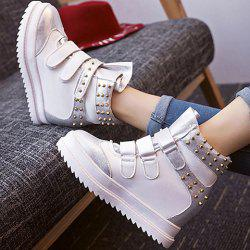 Hook and Loop Rivet Ankle Boots -