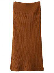 Side Slit Knit Skirt