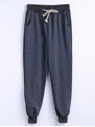 Drawstring Plus Size Big and Tall Jogger Pants -