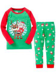 Christmas Santa Claus Long Sleeves Pants Pyjamas Sets - GREEN