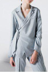 Tied Asymmetric Blazer -