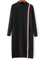 Long Sleeve Stripe Shift Sweater Dress