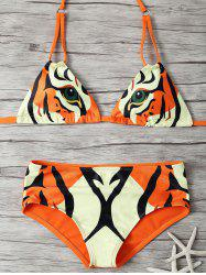 Animal Print Bikini Set