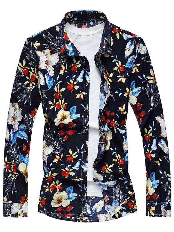 Long Sleeve Floral Printed Shirt от Rosegal.com INT