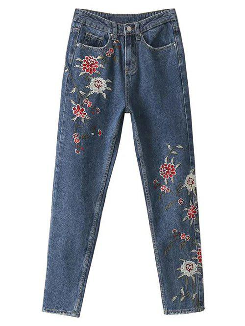 Hot Straight Leg Embroidered Jeans