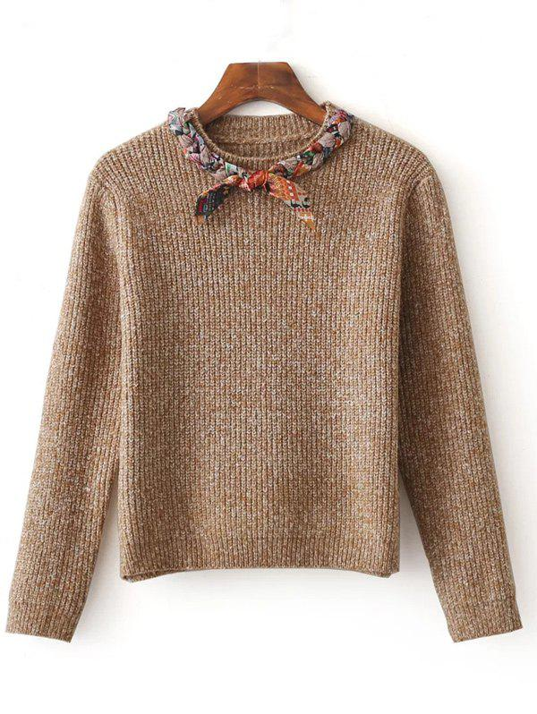 Online Bowknot Design Pullover Knit Sweater