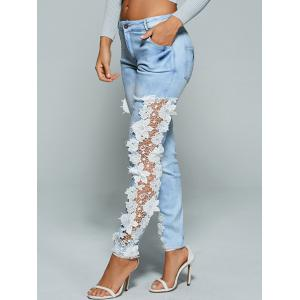 Lace Crochet See Through Jeans