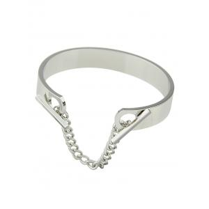 Punk Bar Chain Openwork Charm Bangle