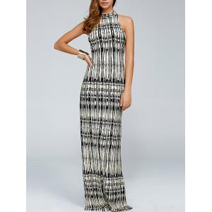 High Neck Tie Dye Maxi Dress