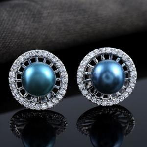 Pair of Faux Pearl Stud Earrings