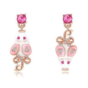Pair of Rhinestone Mouse Drop Earrings