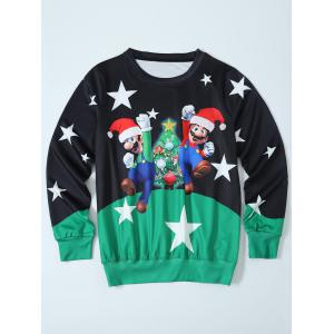 Mario Color Block Christmas Sweatshirt