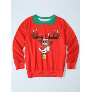 Fawn Print Christmas Pullover Sweatshirt