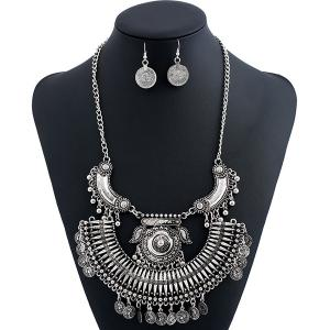 Alloy Engraved Coin Piggy Jewelry Set
