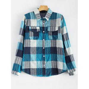 Flap Pockets Plaid Shirt