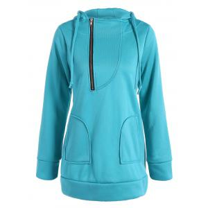 Zip Front Hooded Sweatshirt