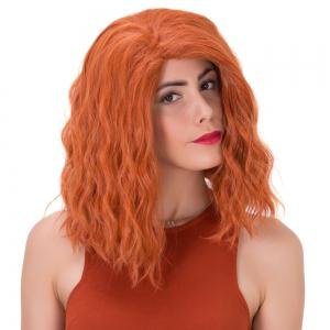 Shaggy Medium Curly Synthetic Wig -