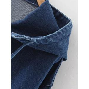 Hooded Drawstring Denim Coat -