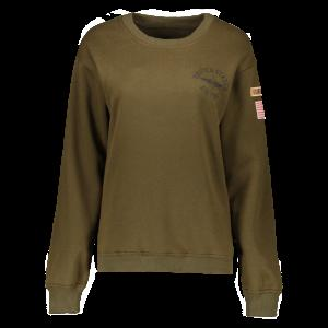 Letter Patch Desigh Thick Sweatshirt - Army Green - M