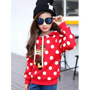 Thicken Polka Dot Cartoon Printed Hoodie