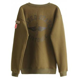 Letter Patch Desigh Thick Sweatshirt -
