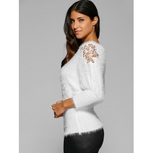 Batwing Sleeves Mohair Mesh Sweater -