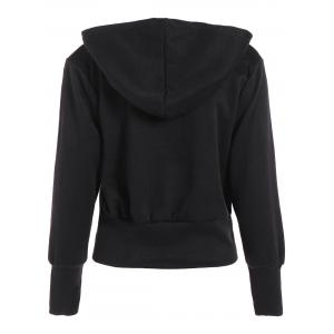 Hooded Loose Zip-Up Jacket - BLACK XL