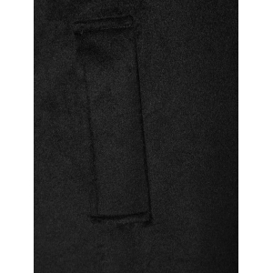 Turn Down Collar Fitted Longline Coat -