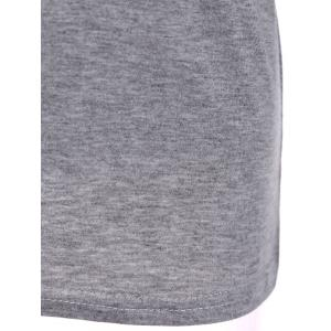 Scoop Neck Fitting Thin T-Shirt -