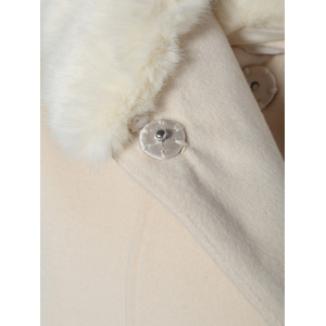 Fur Collar Longline Coat -