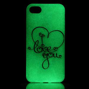 Luminous Love You Letter Back Protection Phone Case For iPhone 6S -