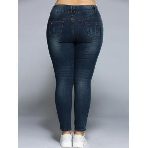 Plus Size Pencil Jeans -