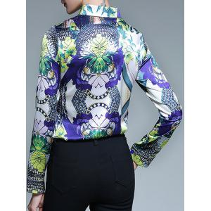 Fitted Floral Print Shirt -