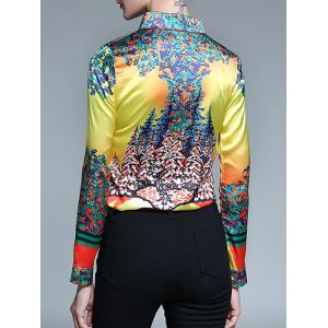 Floral Print Fitted Shirt -