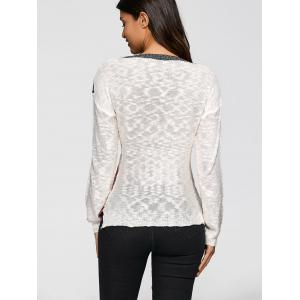 Jacquard Knit Sweater - OFF WHITE XL