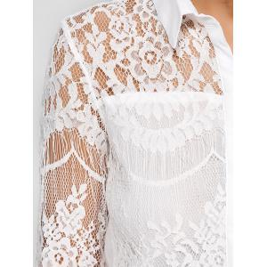 Lace Spliced Shirt -