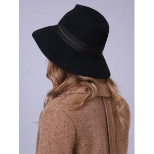 Streetwear Knotted Ombre Sewing Thread Band Felt Jazz Hat -