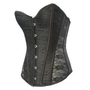 Classic Lace Steel Boned Corset Top -