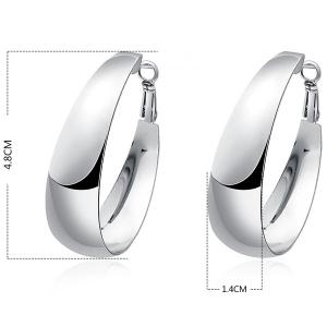 Alloy Hoop Earrings -