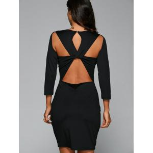 Bandage Cut Out Bodycon Dress with Sleeves -