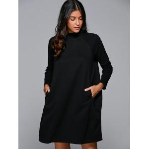 Raglan Sleeves Pocket Design Dress -