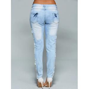 Lace Crochet See Through Jeans -