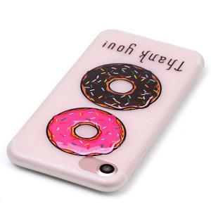 Doughnut Pattern Soft TPU Lucency Noctilucent Phone Case For iPhone 7 -