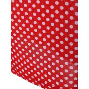 Retro Polka Dot Bowknot Sheath Dress -