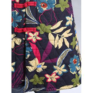 Flower Print Cheongsam Padded Coat -