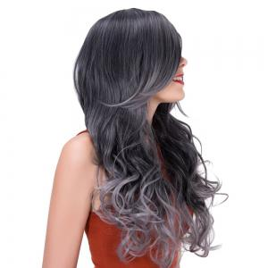Colormix Long Side Bang Wavy Impressive Synthetic Wig -