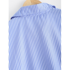 Drop Shoulder Striped Shirt -