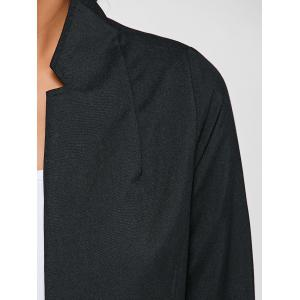 Single-Buttoned Slimming Coat - BLACK 3XL