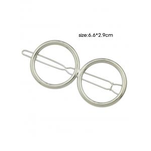 Openwork Double Circle Hairpin -