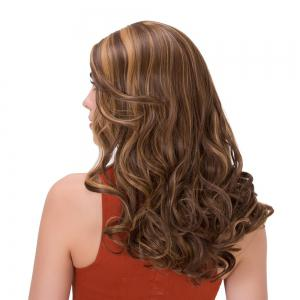 Double Color Long Centre Parting Wavy Synthetic Wig -